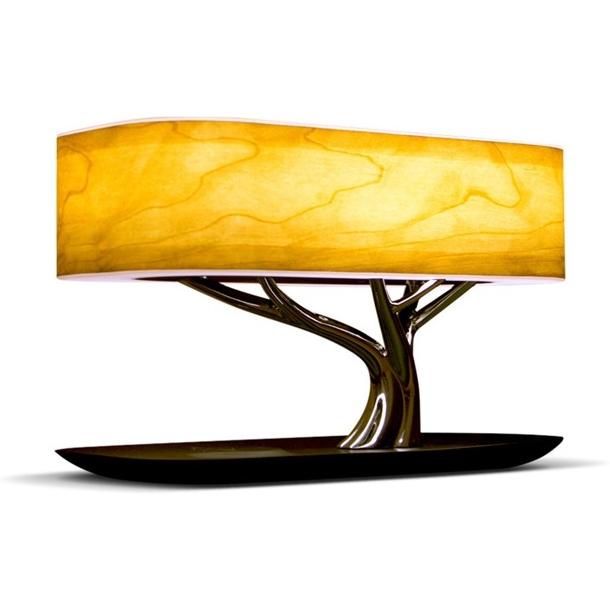 Беспроводная зарядка+Bluetooth акустика+лампа HomeTree Light of the tree B2S Светлая фото