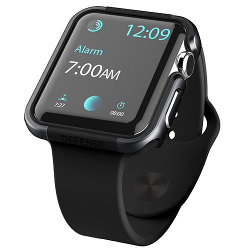 Чехол X-Doria Defense Edge для Apple Watch 38мм ЧерныйЧехлы<br>Стильный кейс, который придает оригинальности вашим часам от Apple и защищает их от повреждений бпгодаря плотному силикону и анодированному алюминию        Совместимость: Apple Watch 38мм всех поколений<br>