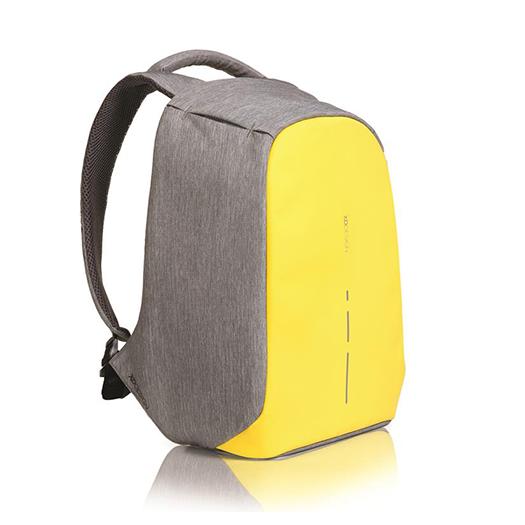 Рюкзак XD Design Bobby Compact anti-theft backpack Primrose YellowРюкзаки<br>Что это?Жить в современном мегаполисе – жить в постоянном движении. Каждый день мы смешиваемся с толпой в автобусе, метро, на улице спеша на работу, учебу, в гости к бабушке. И каждый день мы рискуем стать одним из сорока тысяч жертв карманной кражи          Рюкзак Bobby – проект родом с Kickstarter'a от XD Design, объединяющий в себе стиль, безопасность и удобство использования. Аскетичный, на первый взгляд, портфель оборудован USB-разъемом для подзарядки смартфона, множеством потайных кармашков, светодиодами, распределителями веса и, самое главное, защитой от грабителей. Специально для тех, кто часто путешествует, предусмотрено удобное крепление на чемодан                Защита от кражиДизайнеры заявляют, что идея создания Bobby появилась после посещения Шанхая. В переполненном городе туристы, опасаясь кражи, носили свои портфели задом наперед. За счет своего уникального дизайна, Bobby похож на стильный мешок – на нем нет ни одной видимой молнии. Для того, что добраться к содержимому необходимо подвернуть края рюкзака, за которыми спрятана оригинальная застежка YKK           Рюкзак, в зависимости от потребности, открывается под тремя углами. Для быстрого доступа в общественном транспорте или на ходу достаточно приоткрыть его на 30 градусов, а для полной загрузки или разгрузки содержимого - на 90 и даже 180 градусов                  Всё под рукойДля удобного пользования в общественных местах предусмотрено множество потайных мелких карманчиков для быстрого доступа к содержимому сумки. Кармашки в лямках подойдут для хранения мелочи, кредитных карт или ключей. Еще один незаметный карман на спинке и два боковых отделения на «крыльях» для самого ценного в поездке – документов или смартфона                Защита от порезовДля защиты от воров с колюще-режущими предметами, создатели оборудовали рюкзак прослойкой из пяти разных материалов. Внешний слой – приятная и эстетичная водонепроницаемая ткан