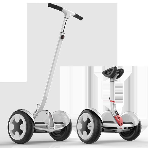 Мини сигвей IWALK Pro Robot 5.2ah БелыйСигвеи<br>Мини сигвей IWALK Pro Robot 5.2ah Белый.            ГонгКонгская компания IWALK занимается производством электротранспорта и новая модель Pro Robot до боли напоминает сигвей от NineBot, но обладает рядом преимуществ, о которых ниже:          КОРПУС ИЗ МАГНИЯКорпус сигвея изготовлен из сверхпрочного магниевого сплава, вмеру легкого и чрезвычайно прочного                  2 РУЧКИ В КОМПЛЕКТЕ   Во-первых, сигвей комплектуется рычагом управления, регулируемым по высоте, позволяя подстроить оптимальное положение в зависимости от роста пользователя. Во-вторых, в комплекте поставляется дополнительная ростовая ручка для управления руками, превращающая IWALK в полноценный сигвей                   ЗАЩИТА IP54   Сигвей сертифицирован по стандарту защиты ip54, означающему устойчивость к пыле, влаге и дождю                  МОЩНЫЙ И БЫСТРЫЙIWALK Robot оснащен двумя мощными моторами по 350 Ватт каждый, способными разогнать пользователя до 18 километров в час. Емкий аккумулятор 5.2Ah позволит преодолеть до 22 километров на одном заряде                  УМНЫЙ  Встроенный Bluetooth и бесплатное фирменное приложение для iOs и Android открывают для пользователя множество возможностей: установка блокировки и режима сигнализации, установка ограничения скорости, регулировка чувствительности к поворотам, удаленное управление сигвеем, цвета подсветки, диагностика неисправностей, мониторинг скорости движения и многое другое                 БЕЗОПАСНЫЙ   Robot оснащен интеллектуальной начинкой, защищающей его от замыканий, перегрева, перезаряда, скачков напряжения. Если пользователь соскакивает с него во время движения, он автоматически остановится                  ОТЛИЧИЯ ОТ Ninebot Mini:     Встроенная подножка   Регулируемый по высоте руль   Большая ручка-руль в комплекте            ХАРАКТЕРИСТИКИ:     габариты: 260х550х610мм   вес 13.5 кг   диаметр колес 10.5 дюймов   максимальная нагрузка 100 кг   моторы: 2х 350 Ватт   аккумулятор: 5.2Ah (