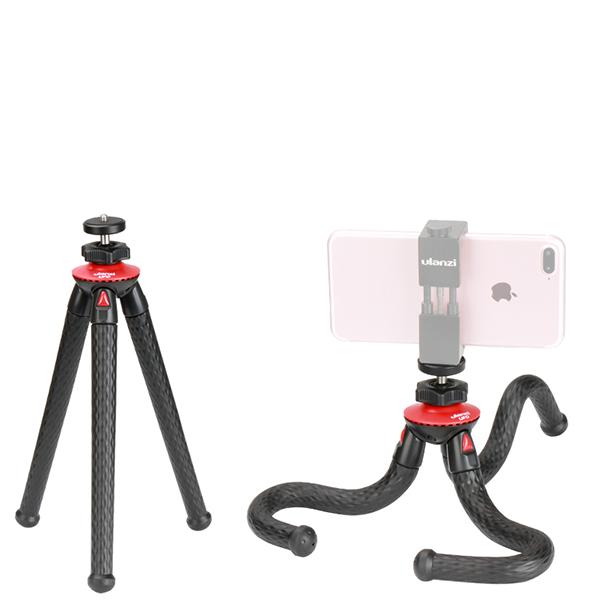 Мини штатив Ulanzi Ufo Flexible TripodШтативы<br>Мини штатив с гнущимися ногами способен стать одним из лучших помощников фотографа или видеографа в поездках         Шарнирная голова позволяет задать правильный угол съемки               Его можно установить или закрепить практически за любую поверхность. Мини штатив подойдет как для смартфона, так и для взрослой камеры           ХАРАКТЕРИСТИКИ:     минимальная длина: 220мм   максимальная длина: 490мм   выходное крепление 1/4 дюйма<br>