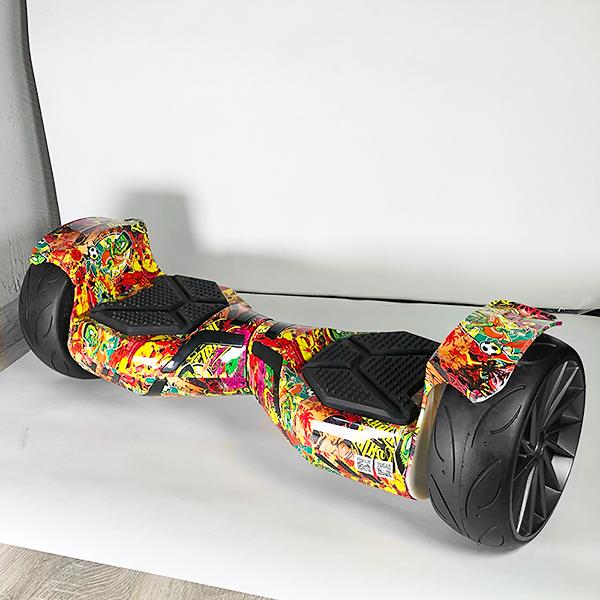 Гироскутер Smart balance 9 Sport (APP+AUTOBALANCE) Sticker bomb фото