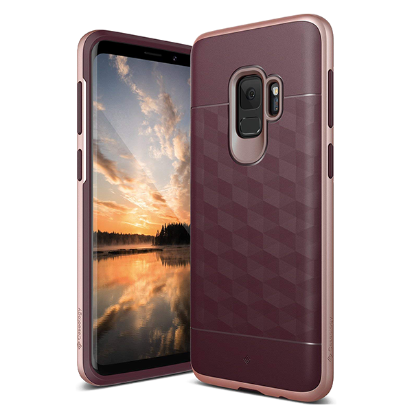 Чехол Caseology Parallax для Galaxy S9 Burgundy / Rose Gold