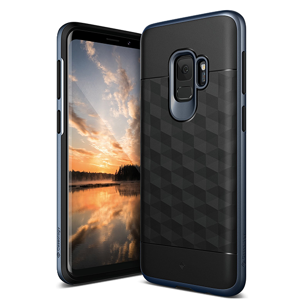 Чехол Caseology Parallax для Galaxy S9 Black / Deep Blue фото