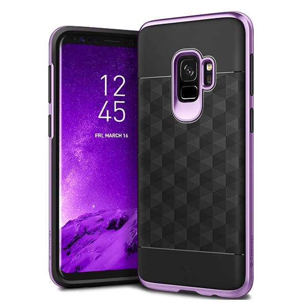 Чехол Caseology Parallax для Galaxy S9 Black / Lilac Purple фото