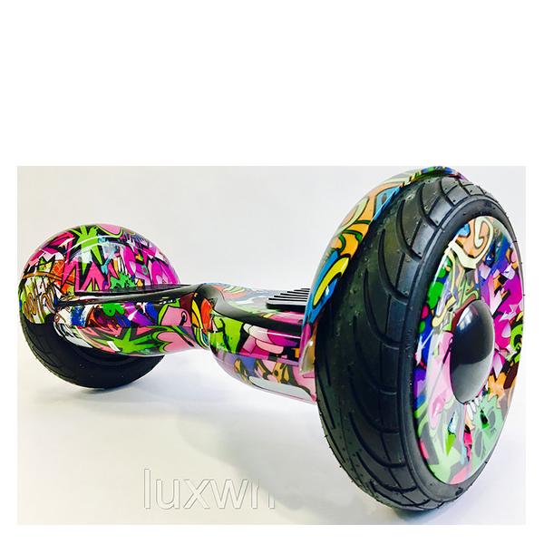 Гироскутер Smart Balance 10.5 Premium (APP+AUTOBALANCE) Hip-HopЭлектротранспорт<br>Новый гироскутер с большими 10-дюймовыми колесами и может проехать не только по ровной поверхности, но и по небольшому бездорожью. Крутой современный дизайн, и не только. Новая материнская плата от TATAO имеет полезную функцию самобалансировки. То есть когда вы сойдете или спрыгните с него на ходу, он не покатится как раньше, а стабилизируется самостоятельно. Кроме того бесплатное приложение позволит вам отслеживать скорость, маршрут и многое другое прямо со своего смартфона.       Он имеет моторы мощностью 350 Ватт каждый, аналогичные тем что устанавливаются в сигвеи xiaomi ninebot mini. Гироскутер способен разогнаться до 18 километров в час и запас хода составляет около 20 километров (аккумуляторы емкостью 4.4Ah 36V)              Встроенные колонки позволяют прокачать настроением поездку, соединяясь со смартфоном по Bluetooth           ХАРАКТЕРИСТИКИ:     колеса 10 дюймовсамобалансировка   запас хода 20км (аккумулятор 4.4Ah 36v)   2 мотора по 350 Ватт (аналогичные с xiaomi ninebot mini)   скорость до 18 км/час   bluetooth колонкибесплатное приложение для iOs и Android   вес 12.5кг, размеры 71х35х34см<br>