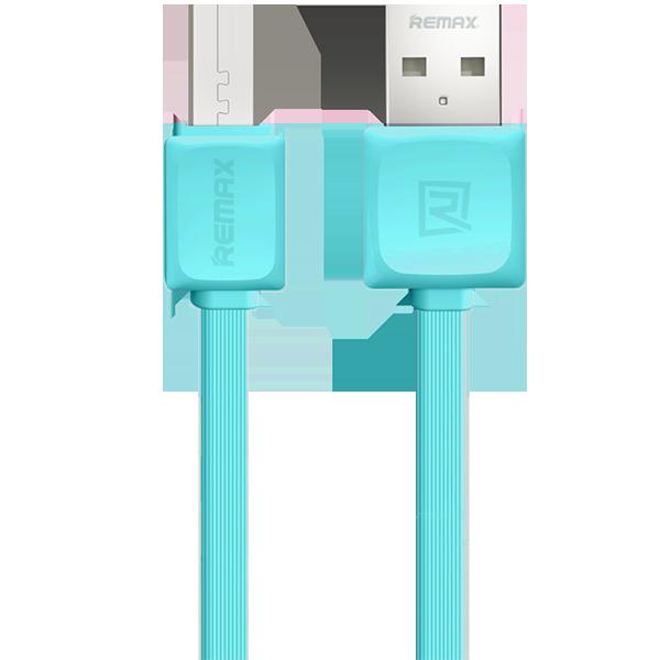 USB провод Micro USB to USB Remax Fleet ГолубойКабели<br>USB кабель для мобильных устройств с разъемом Micro USB и плоским шеуром длиной 1 метр.<br>