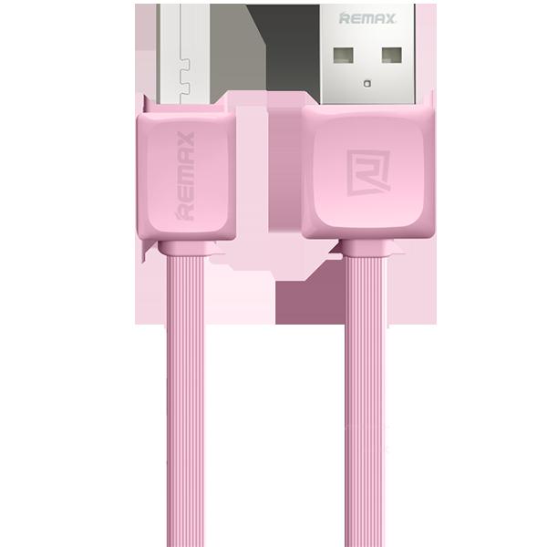 Кабель Remax Fleet micro USB to USB Розовый