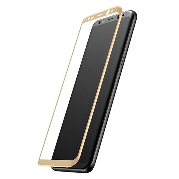Стекло защитное 3D Baseus 0.3mm для Galaxy S8 ЗолотоСтёкла<br>Стекло защитное 3D Baseus 0.3mm для Galaxy S8 Золото.       Ультратонкое защитное стекло Baseus имеет толщину 0.3мм. Его плоскость идеально повторяет изогнутый дисплей Galaxy S8          Твердость в 9H позволяет противостоять большинству царапин и ударов<br>