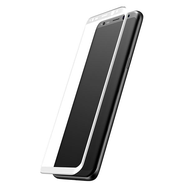 Стекло защитное 3D Baseus 0.3mm для Galaxy S8 БелоеСтёкла<br>Ультратонкое защитное стекло Baseus имеет толщину 0.3мм. Его плоскость идеально повторяет изогнутый дисплей Galaxy S8          Твердость в 9H позволяет противостоять большинству царапин и ударов<br>
