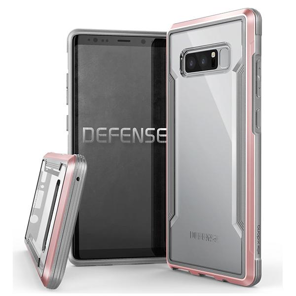 X-Doria Defense Shield - противоударный кейс для Galaxy Note 8 Розовое золото