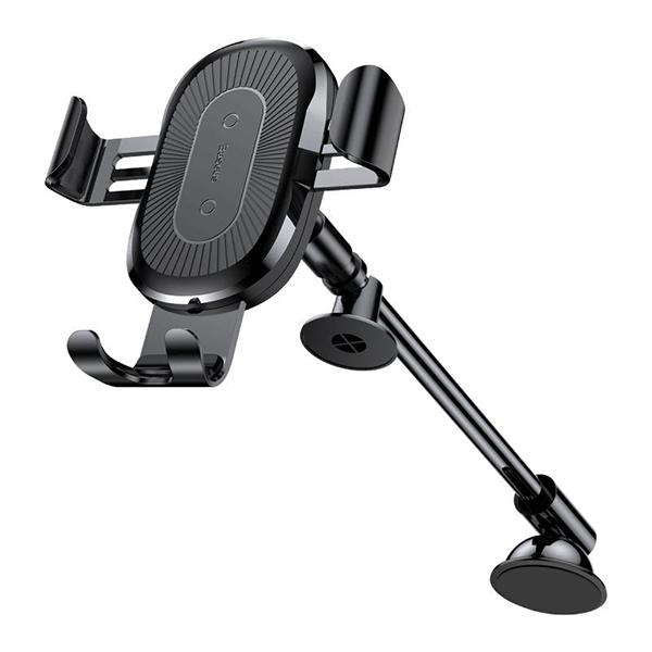 Автодержатель с беспроводной зарядкой Baseus Heukji Wireless Charger Gravity Car Mount Черный фото