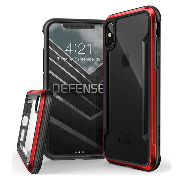 X-Doria Defense Shield - противоударный кейс для iPhone X КрасныйЧехлы<br>X-Doria Defense Shield - противоударный кейс для iPhone X Красный.      ПРЕМИУМВ конструкции X-Doria Defence Shield используются высококлассные материалы, среди которых аэрокосмический алюминий, ударостойкий поликарбонат и термопластичный полиуретан, умело скомпонованные в изысканную конструкцию, безупречно собранную в единое целое без каких-либо швов и зазоров. Кейс идеально повторяет форму смартфона, являясь не только надежной защитой, но и украшением                     ЗАЩИТА ПО ВОЕННОМУ СТАНДАРТУБлагодаря бамперу из высокопрочного и легкого аэрокосмического алюминия, комбинированного с плотным амортизирующим силиконом и ударостойким поликарбонатом, Defence Lux обладает беспрецедентными защитными свойствами, подтвержденными Американским военным стандартом соответствия MIL-STD-810G. С X-Doria Dexense Lux смартфону не страшны падения с 3-х метровой высоты на твердую поверхность. При этом даже дисплей смартфона защищает небольшой выступ за его плоскость                 УСИЛИТЕЛЬ ГРОМКОСТИОсобая конструкция чехла в районе динамика перераспределяет направление звука к пользователю, делая его гораздо более громким           ПОЖИЗНЕННАЯ ГАРАНТИЯПроизводитель настолько уверен в качестве и защитных свойствах кейса, что предлагает на него пожизненную гарантию, что беспрецедентно                  ХАРАКТЕРИСТИКИ:     защита от падения с 3х метровой высоты (сертифика MIL_STD-810G)   пожизненная гарантия производителя   материалы: аэрокосмический алюминий, пермополеуретан   усилитель звука   не блокирует беспроводную зарядку<br>