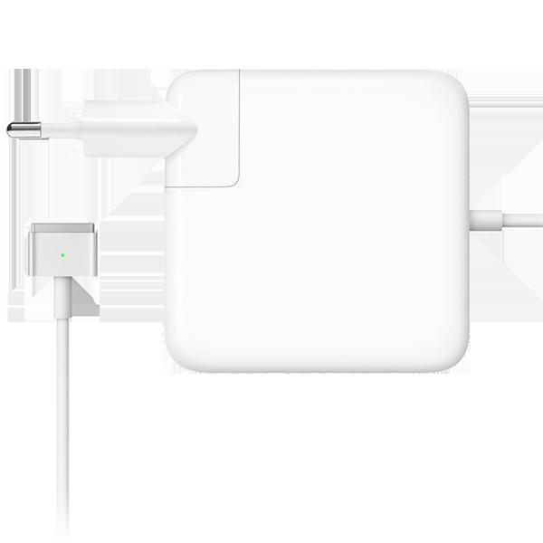 Зарядное устройство Magsafe 2 85W для Macbook ProЗарядные устройства<br>Зарядное устройство для ноутбуков от Apple является аналогом оригинального как по внешнему виду (отсутствует только логотип Apple на корпусе), так и по функционалу             Данная модель предназначена для Macbook Pro/Retina 15 2012 года выпуска и новее           Если используется адаптер более высокой мощности, а не адаптер из комплекта поставки, компьютер не заряжается быстрее и функционирует точно так же, как при подключении адаптера из комплекта поставки<br>