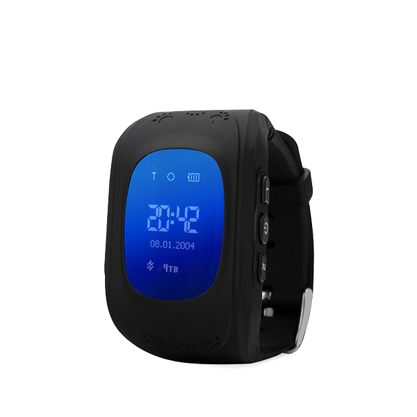 Детские GPS часы трекер Wonlex Q50 ЧерныеДетские GPS часы<br>Wonlex Q50 - самая популярная модель детских GPS часов на Российском рынке в 2016 году и давайте рассмотрим почему        Во-первых яркий и броский дизайн, который не оставит равнодушным ни одного ребенка. Большой LCD дисплей отображает текущее время, дату, день недели, сигнал сотовой сети. Для отслеживания ребенка необходимо установить micro sim карту с положительным балансом на счету. Разумеется меню часов и инструкция переведены на русский язык. Часы являются водостойкими и не боятся душа и дождя. Итак давайте рассмотрим функционал:                ОТСЛЕЖИВАНИЕВ любой момент времени с высокой точностью вы можете отследить местоположение вашего ребенка с компьютера, смартфона или планшета, а так же историю его передвижений       ЗВОНКИВ любой момент времени вы можете поговорить с вашим чадом, совершив звонок прямо на часы, которые имеют динамик и микрофон. Кроме того вы можете без уведомления ребенка послушать что происходит вокруг него. Кроме того ребенок может связаться с вами сам. На кнопку 1 программируется телефон мамы, на кнопку 2 - папы например                КНОПКА SOSДля экстренной ситуации ребенку достаточно нажать одну тревожную кнопку          ФИТНЕС БРАСЛЕТКроме того часы наделены функциями фитнес браслета: они подсчитывают количество пройденных шагов, сожженных калорий и качество сна малыша              Если ребенок решит снять часы с руки, вы немедленно получите уведомление. Если настроен маршрут (есть и такая возможность), вы так же получите уведомление в случае значительного отклонения от него        В купе с невероятно демократичной ценой, вы попросту не найдете лучший вариант на рынке. Этим объясняется успех данной модели              ГАРАНТИЯ kremlinstore является официальным поставщиком компании Wonlex на территории Российской Федерации. На все продукты компании распростаняется гарантия 12 месяцев с момента покупки.<br>