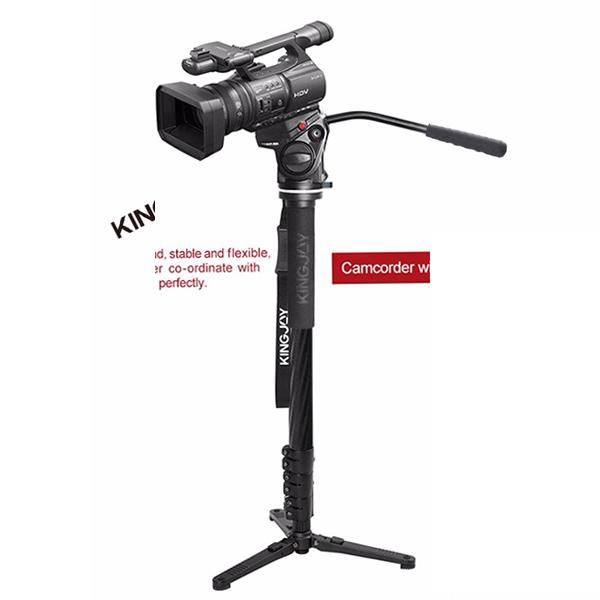 Видео монопод KingJoy MP3008F+VT-3510Моноподы<br>Высококачественный профессиональный видео монопод имеет магниево-карбоновыйкорпус - высокопрочный, но при этом легкий с максимальной нагрузкой в 30 килограмм. 4 раскладные секции позволяют поднять монопод на высоту до 1.67 метра         При этом монопод имеет в комплекте невероятно высококачественную видео голову KingJoy VT-3510, которая выполнена монолитно из высокопрочного алюминия с максимальной нагрузкой в 4 килограмма. Ход головы по всем осям невероятно плавный благодаря гидравлике               Быстросъемная площадка стандарта Manfrotto577 позволит на лету перекидывать камеру на нужное оборудование. Голова завоевала огромную популярность среди видеографов благодраря одному из лучших сочетаний цена/качество на рынке           Характеристики:  Монопод MP3008F     материал: карбон + магниевый сплав   количество секций: 4   диаметр: от 25 до 34.6мм   минимальная высота: 585мм   максимальная высота: 1665мм   вес 0.86кг   максимальная нагрузка: 30кг                 Голова VT-3510     материал: алюминий   вес: 0.94 кг   максимальная нагрузка: 4 кг   максимальная высота: 10 см   панорамирование 360°   площадка совместима с Manfrotto 501L   угол наклона: -60°/+90°   штативное гнездо: 3/8.   винт под камеру: 1/4 и 3/8<br>