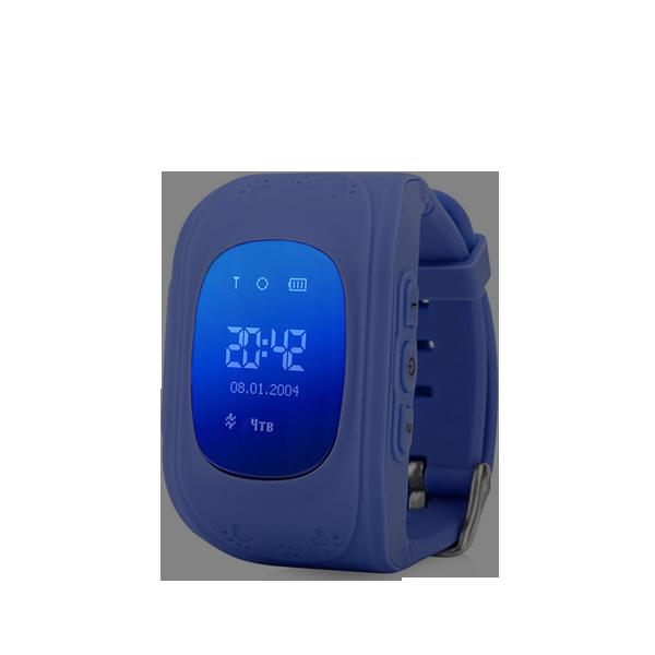 Детские GPS часы трекер Wonlex Q50 Темно Синие