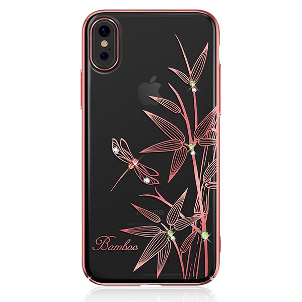 Чехол с Swarovski Kingxbar Elegant Series для iPhone X Bamboo