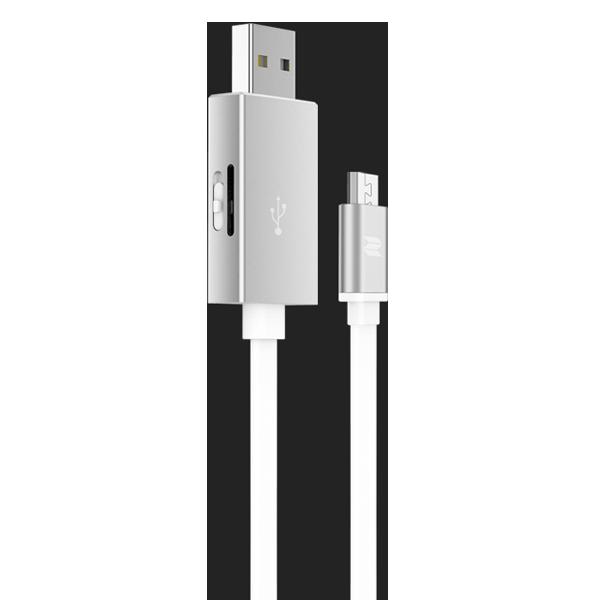 Кабель с карт-ридером Rock Space Micro USB OTG Серебро