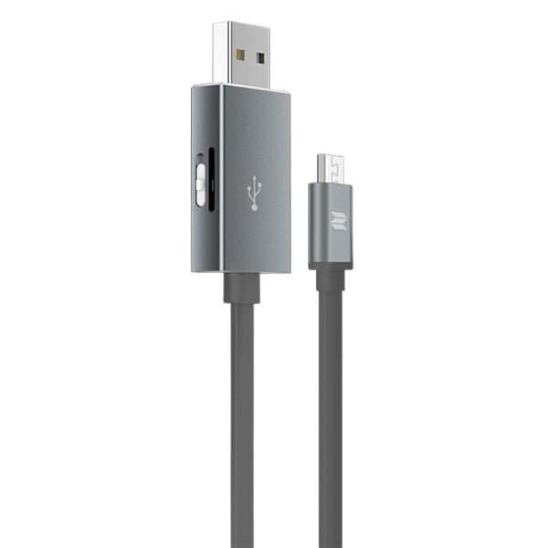 Кабель с карт-ридером Rock Space Micro USB OTG ГрафитовыйКабели<br>На первый взгляд аксессуар представляет из себя обычный USB провод. Если даже и так, это очень качественный провод, имеющий металлические, практически неизнашевыемые разъемы и кабель типа лапша, которые значительно лучше обычного противостоит износу. Однако это далеко не все преимущества           Главной изюминкой является наличие разъема для чтения карт памяти типа Micro SD (TF). Вы можете пользоваться файлами не только на ПК, но и на смартфоне, расширив таким образом объем его памяти                   ХАРАКТЕРИСТИКИ:     длина 25 см   вес 15 грамм   разъем Micro USB to USB   скорость чтения/записи 120/20 Мб/сек.   поддержка карт Micro USB (TF)<br>