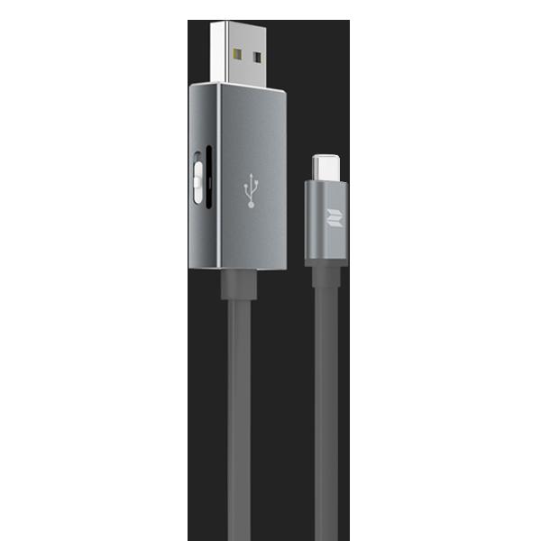 Кабель с карт-ридером Rock Space Type C OTG ГрафитовыйКабели<br>На первый взгляд аксессуар представляет из себя обычный USB провод. Если даже и так, это очень качественный провод, имеющий металлические, практически неизнашевыемые разъемы и кабель типа лапша, которые значительно лучше обычного противостоит износу. Однако это далеко не все преимущества           Главной изюминкой является наличие разъема для чтения карт памяти типа Micro SD (TF). Вы можете пользоваться файлами не только на ПК, но и на смартфоне, расширив таким образом объем его памяти                   ХАРАКТЕРИСТИКИ:     длина 25 см   вес 15 грамм   разъем Type C to USB   скорость чтения/записи 120/20 Мб/сек.   поддержка карт Micro USB (TF)<br>