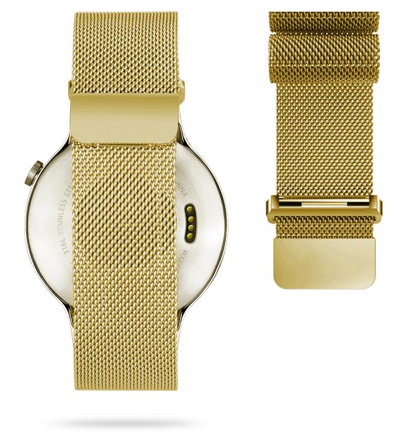 Браслет миланский Milanese Loop для HUAWEI Watch ЗолотоРемешки<br>Браслет составляет сетка из нержавеющей стали, сплетенная в стиле, изобретенном в Милане, откуда и берет название. Фиксируется к Huawei Watch фирменным креплением     Окончание браслета венчает мощный магнит, который позволяет одним движением руки зафиксировать нужную длину под любой объем запястья.Ремешок прекрасно подойдет как на мужскую, так и на женскую руку<br>