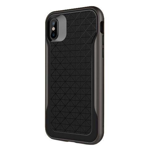 Чехол Caseology Apex для iPhone X Black/Warm Gray фото