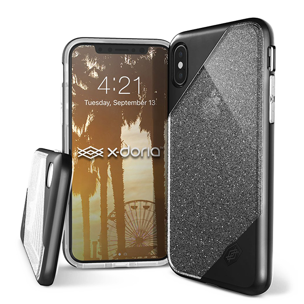 X-Doria Revel Lux - кейс для iPhone X Black Glitter